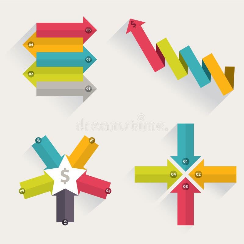 Arrows business marketing infographic template. Vector illustration. vector illustration