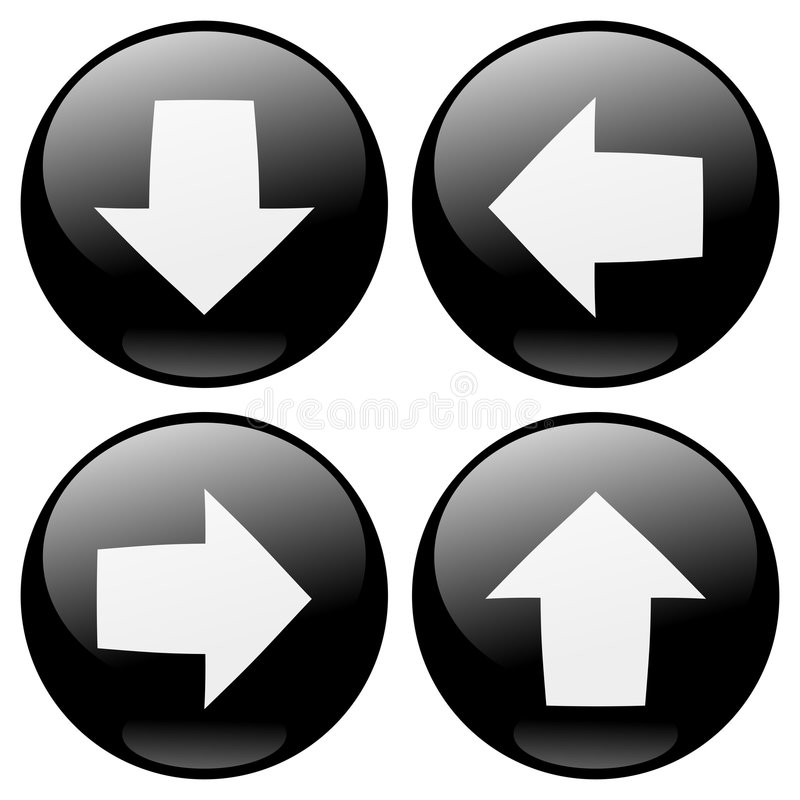 Download Arrows Buttons stock vector. Image of arrow, download - 8381947