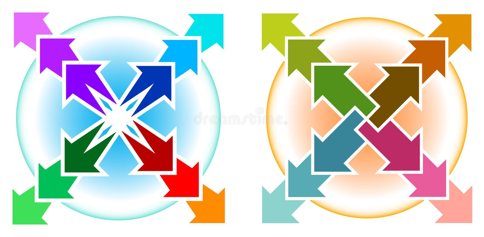 Download Arrows with circle stock vector. Image of pointer, symbol - 20000246