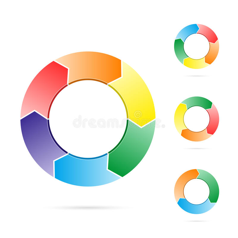 Arrows in a circle flow vector illustration