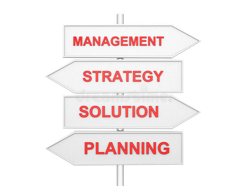 Arrows with conceptual image of strategy. royalty free illustration