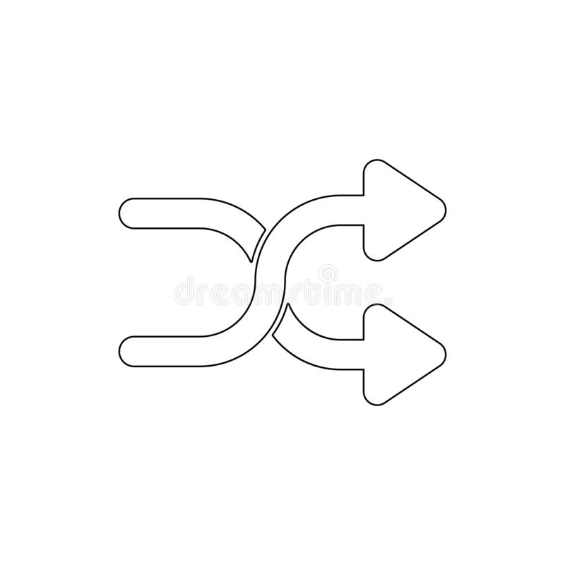Arrows cross shuffle outline icon. Signs and symbols can be used for web, logo, mobile app, UI, UX vector illustration