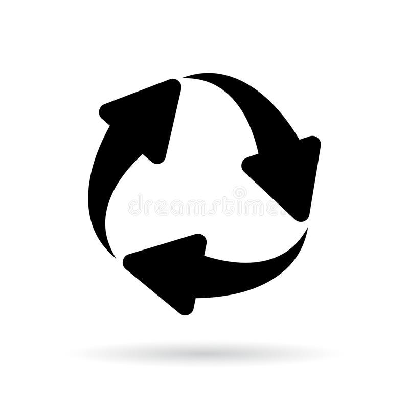 Arrows cycle vector icon vector illustration