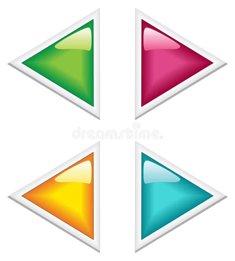 Arrows of different color. Vector illustration royalty free stock image