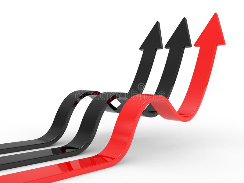 Arrows Directed Upwards Stock Photography