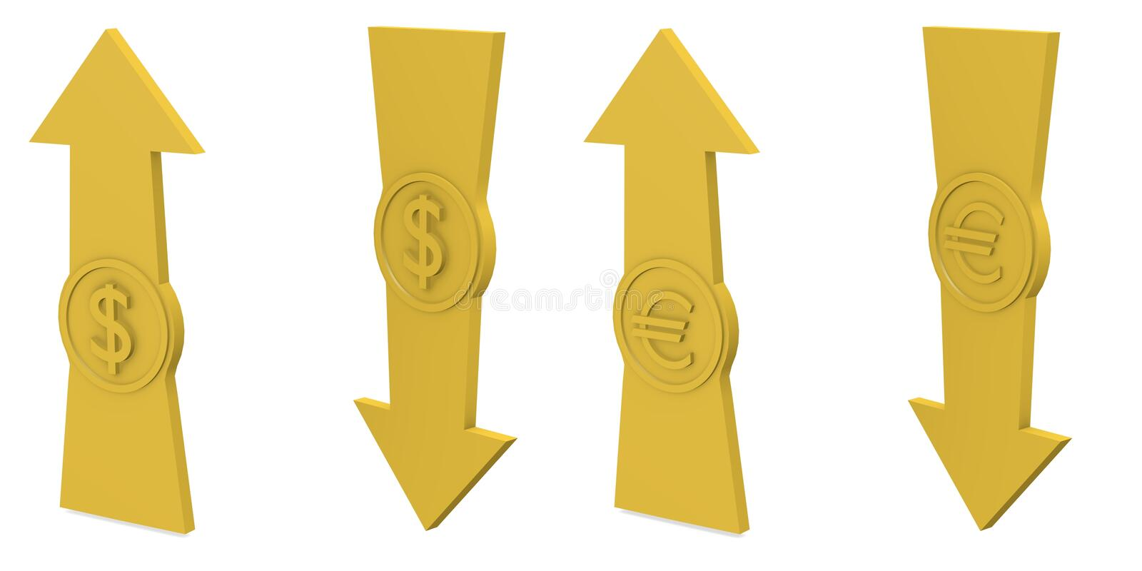 Download Arrows With Euro And Dollar Stock Illustration - Illustration of carry, business: 20566545