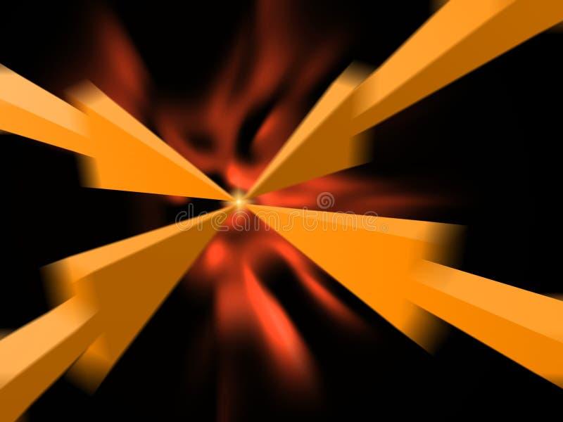 Download Arrows facing stock illustration. Image of facing, meet - 11558913