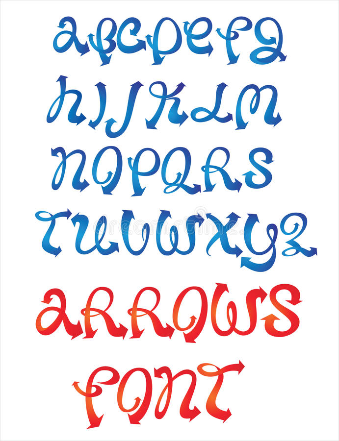 Arrows font stock images