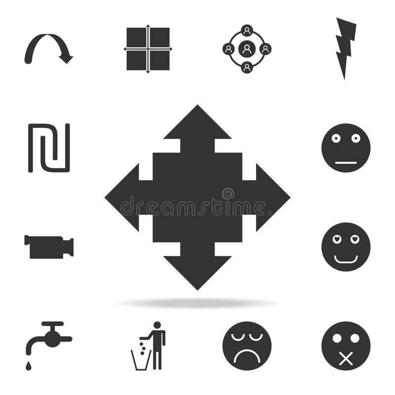 Arrows in four directions icon. Detailed set of web icons and signs. Premium graphic design. One of the collection icons for websi stock illustration