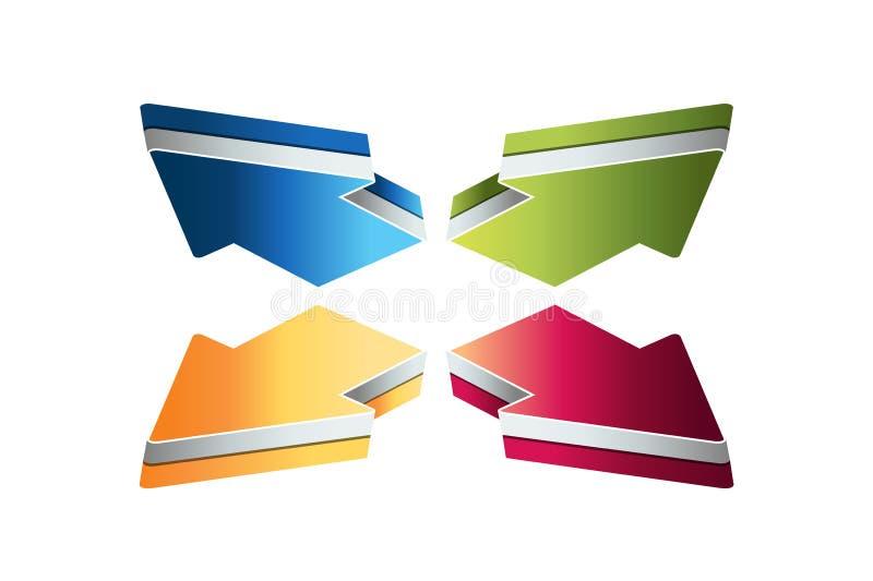 4 arrows. Four steps diagram, elements, charts, infographics. vector illustration