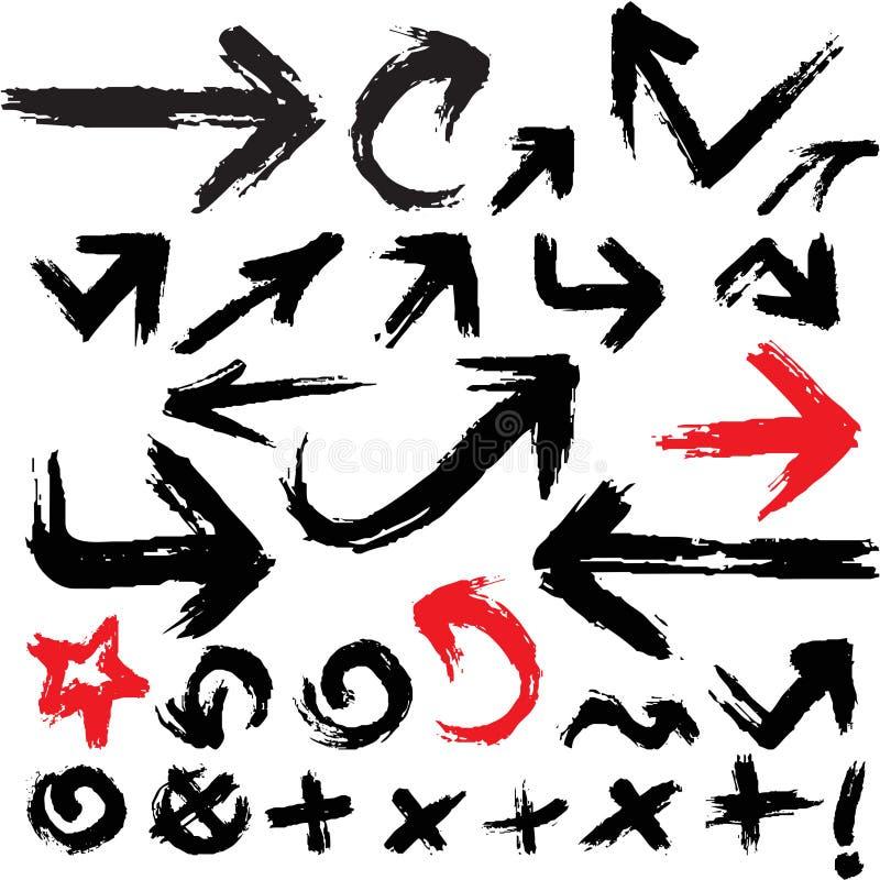 Download Arrows grunge set stock vector. Illustration of down - 27550297