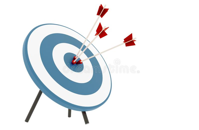 Arrows hit the target vector illustration