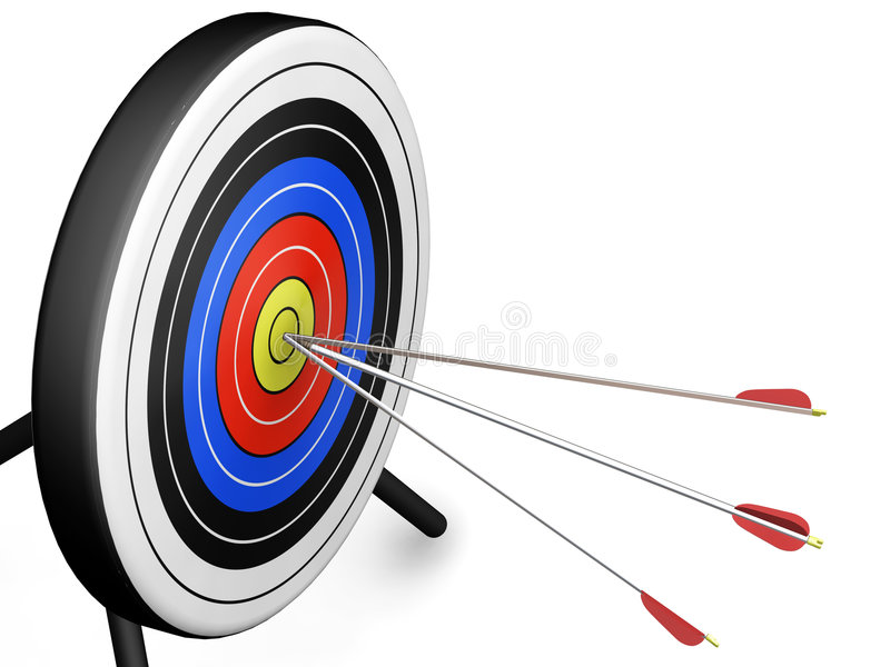 Download Arrows hitting target stock illustration. Illustration of isolated - 1064511