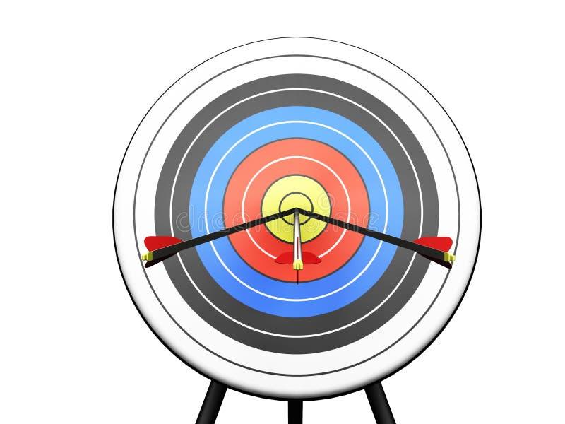 Download Arrows hitting target stock illustration. Image of targetting - 1064515