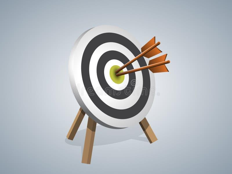 Arrows Hitting A Target royalty free illustration
