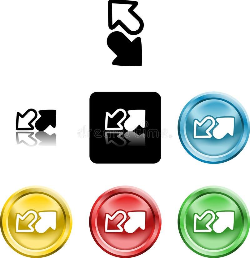 Download Arrows icon symbol stock vector. Image of arrows, versions - 3841417
