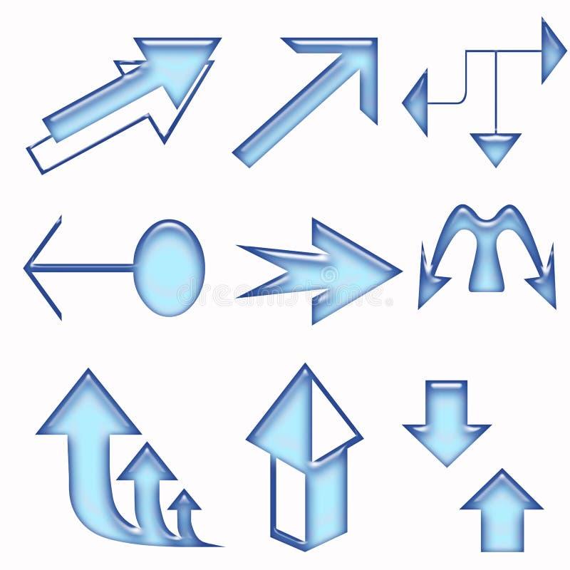 Arrows illustration stock photos