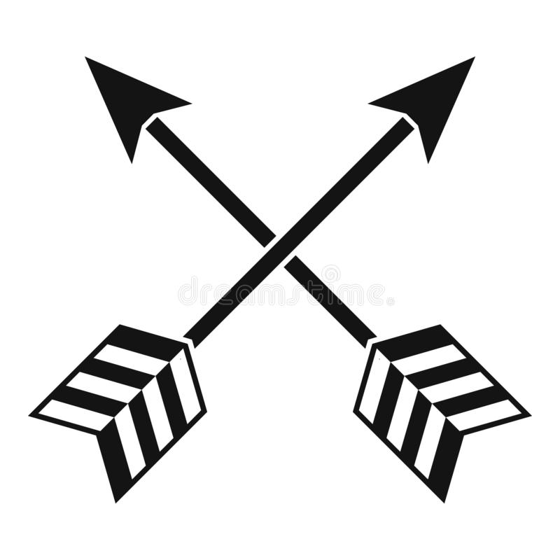 Arrows LGBT icon, simple style stock illustration