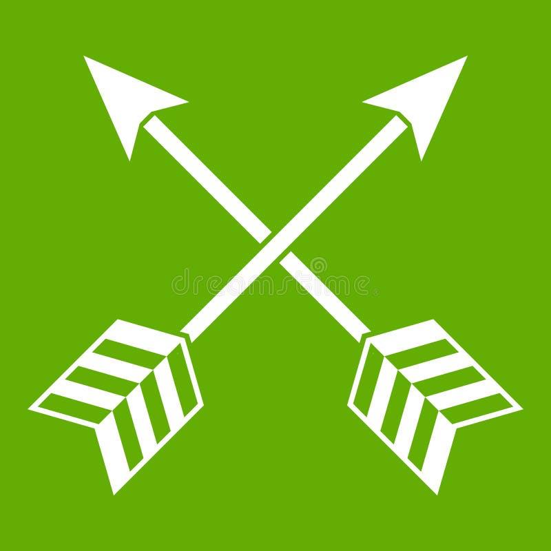 Arrows LGBT icon green stock illustration