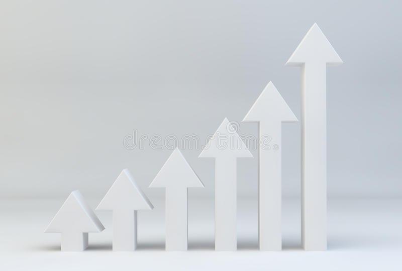 Download Arrows In A Line Getting Taller To Symbolise Growth Stock Illustration - Illustration of data, rate: 39501814