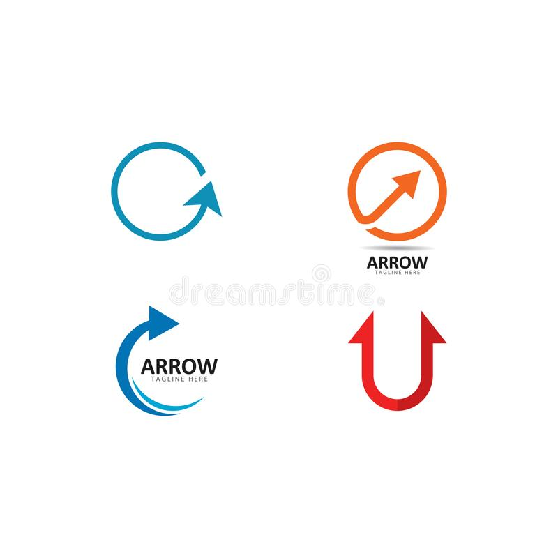 Arrows logo template vector icon illustration. Design, plus, faster, accurate, achieved, advertising, best, business, center, chance, choice, competitive vector illustration