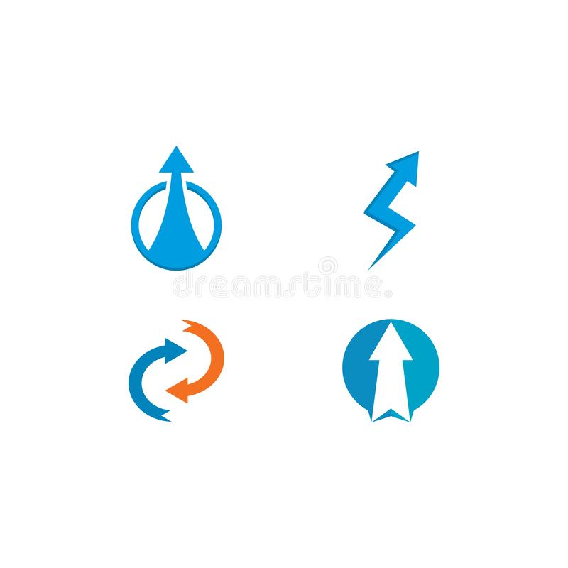 Arrows logo template vector icon illustration. Design, plus, faster, accurate, achieved, advertising, best, business, center, chance, choice, competitive stock illustration