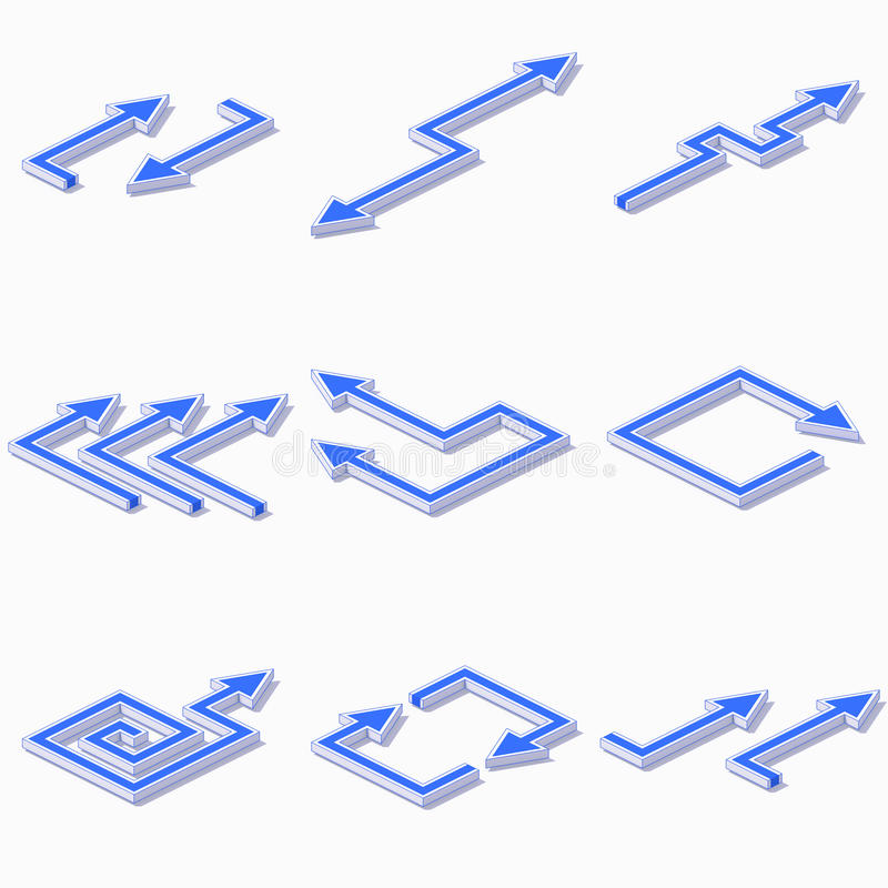 Abstract arrows set royalty free stock image