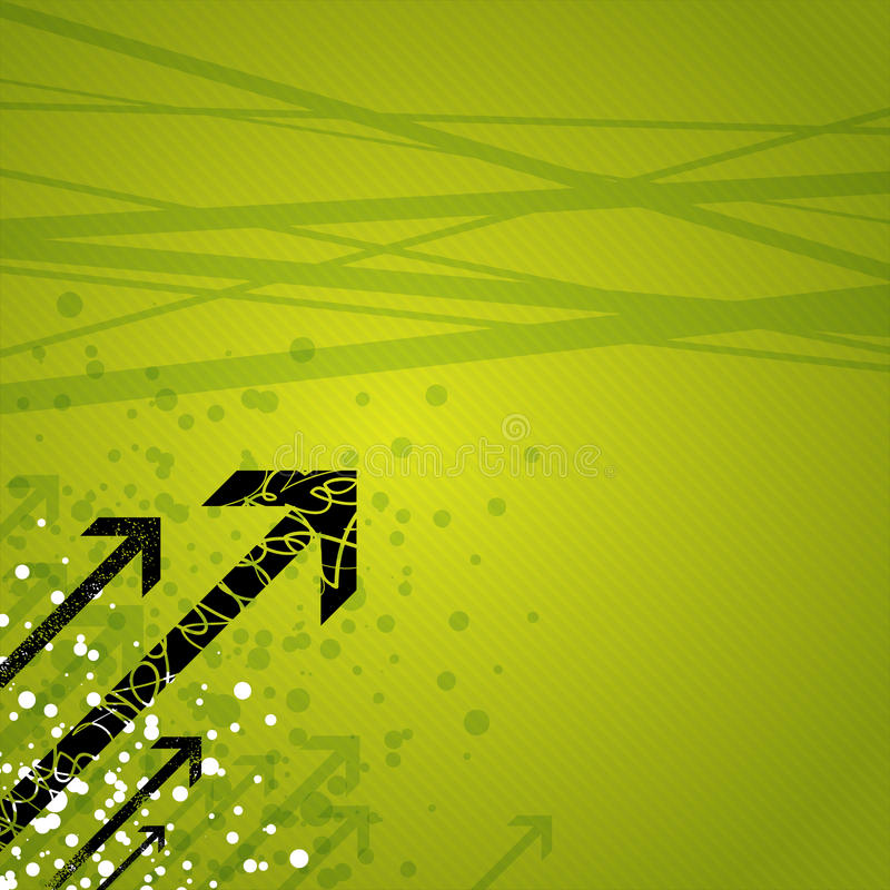 Free Arrows On Green Background Stock Images - 13474104