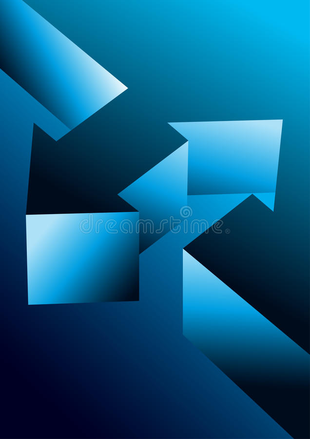 Arrows oppsite stock illustration