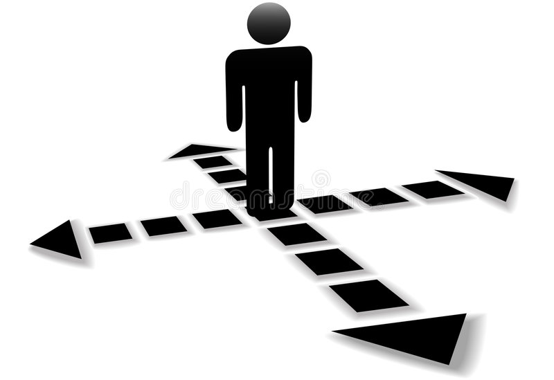 Arrows Point Directions Person Royalty Free Stock Images