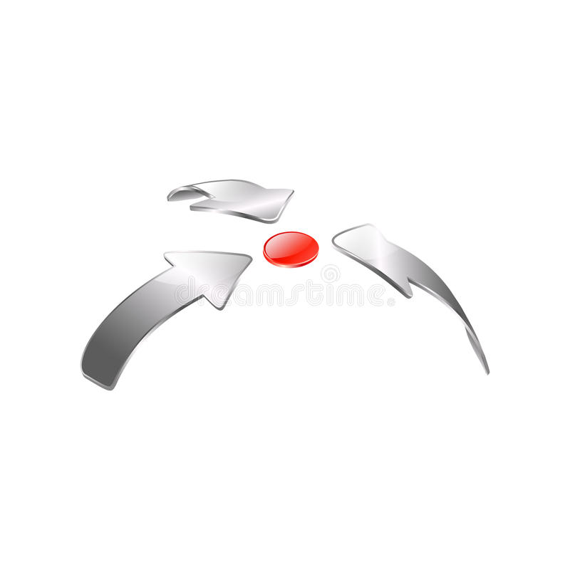 Download Arrows and red button stock vector. Illustration of movement - 25623237