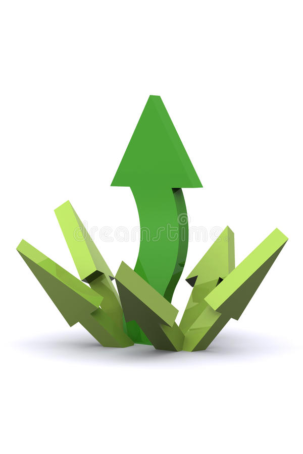 Arrows Rising Stock Image