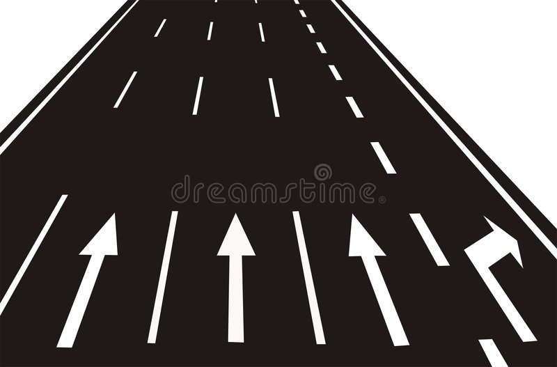 Download Arrows on the Road(vector) stock vector. Image of cars - 8786414