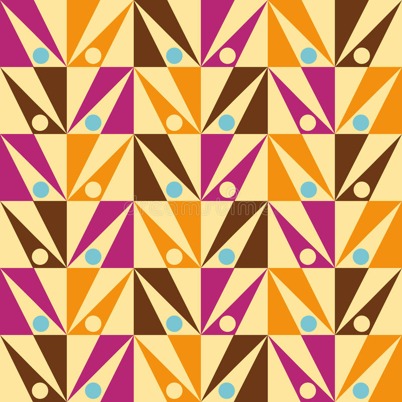 Arrows seamless triangle abstract pattern Vector royalty free illustration