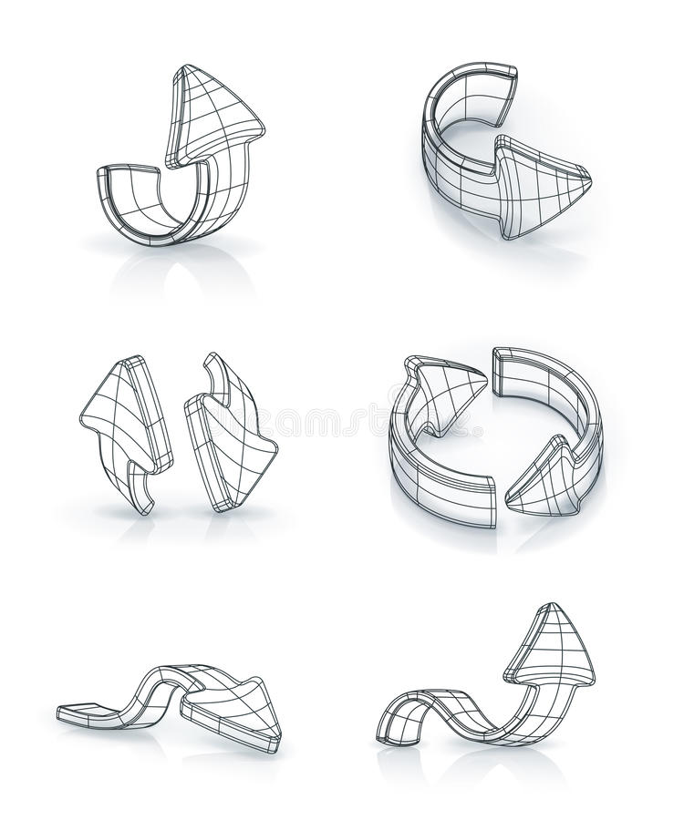 Download Arrows Set, Drawing Stock Photography - Image: 25534882