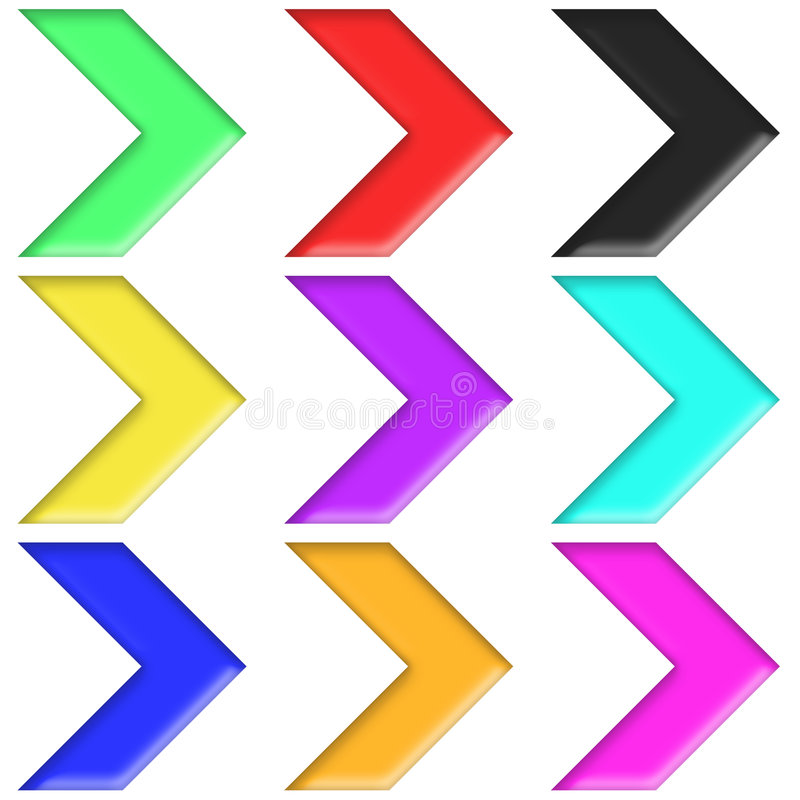 Free Arrows Set Plastic Style Multicolor (04) Royalty Free Stock Photography - 8182937