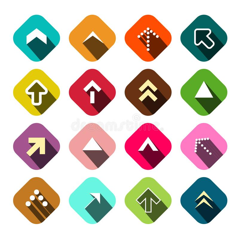 Arrows Set. Vector Flat Arrow Icons. Isolated royalty free illustration