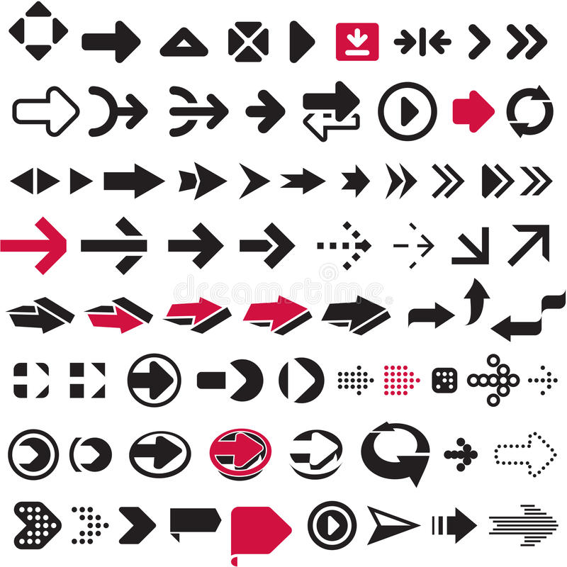 Arrows set royalty free illustration