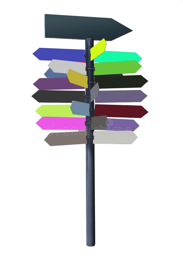 Arrows sign with empty colors stock photography