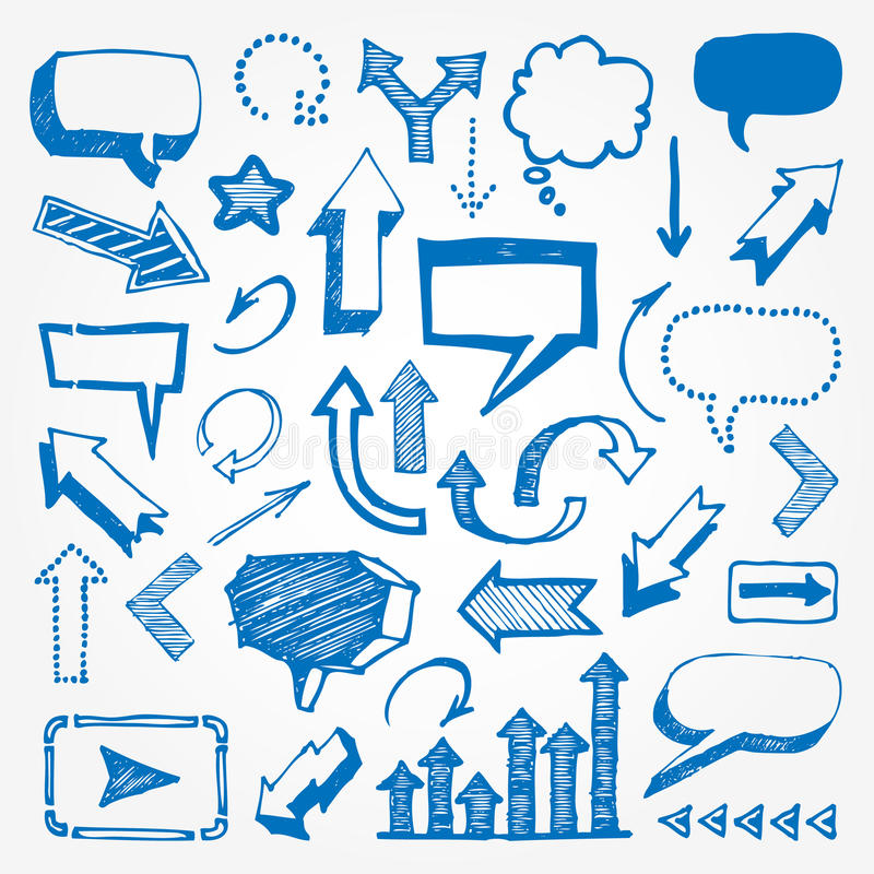 Download Arrows And Speech Bubbles Set Stock Vector - Image: 24874537
