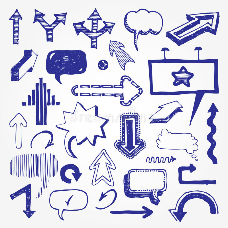 Download Arrows And Speech Bubbles Set Stock Vector - Image: 24874552