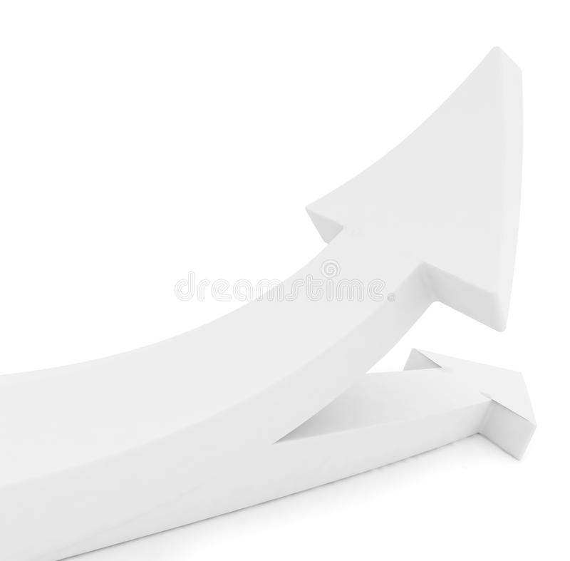 Download Arrows splitting isolated stock illustration. Image of arrows - 12423571