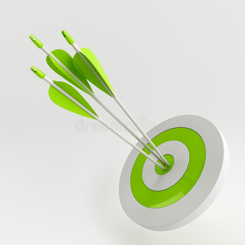 Download Arrows in target stock illustration. Image of white, center - 28926836
