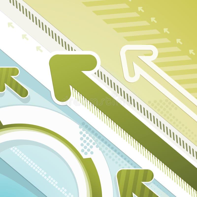 Arrows - techno background vector illustration