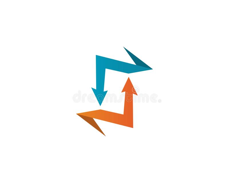 Arrows vector illustration icon Logo Template design. Plus faster accurate achieved advertising best business center chance choice competitive competitiveness stock illustration