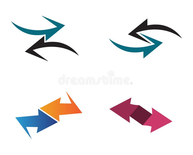 Arrows vector illustration icon Logo Template design. Plus faster accurate achieved advertising best business center chance choice competitive competitiveness royalty free illustration