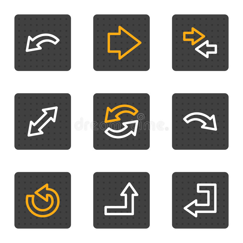 Download Arrows Web Icons, Grey Buttons Series Stock Vector - Image: 9185082
