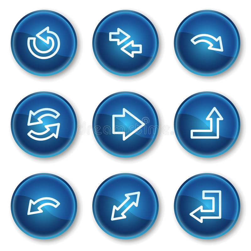 Download Arrows Web Icons Set 1, Blue Circle Buttons Stock Vector - Image: 13308536