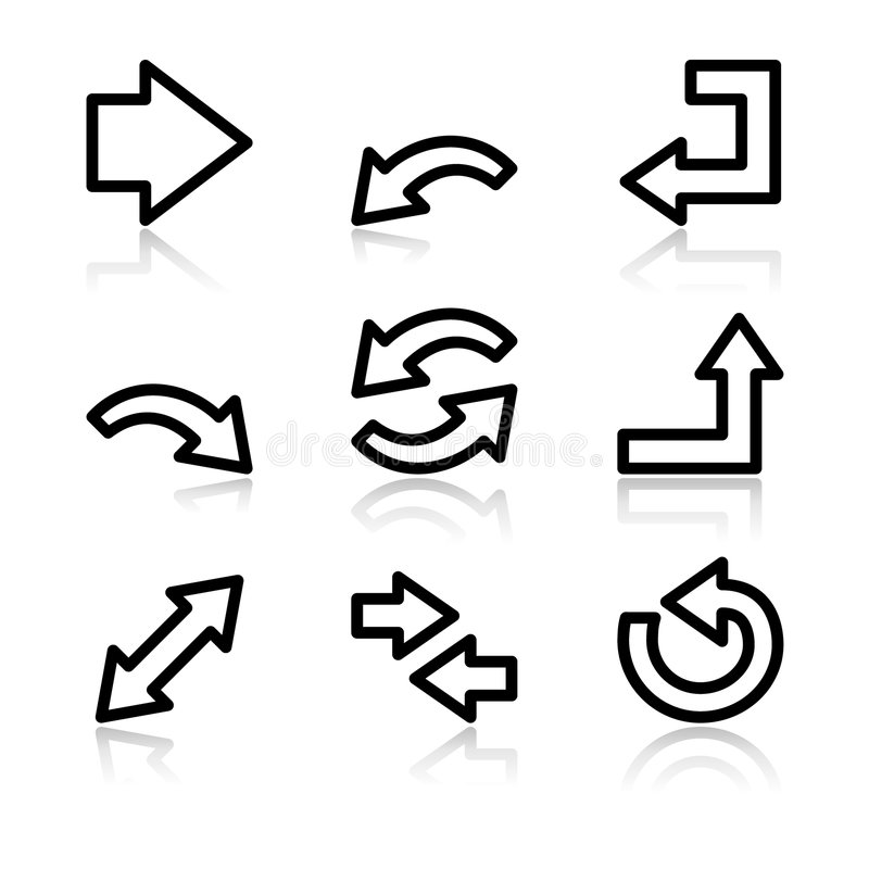 Arrows web icons V2