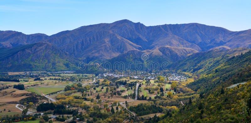 Arrowtown no outono, Nova Zelândia foto de stock